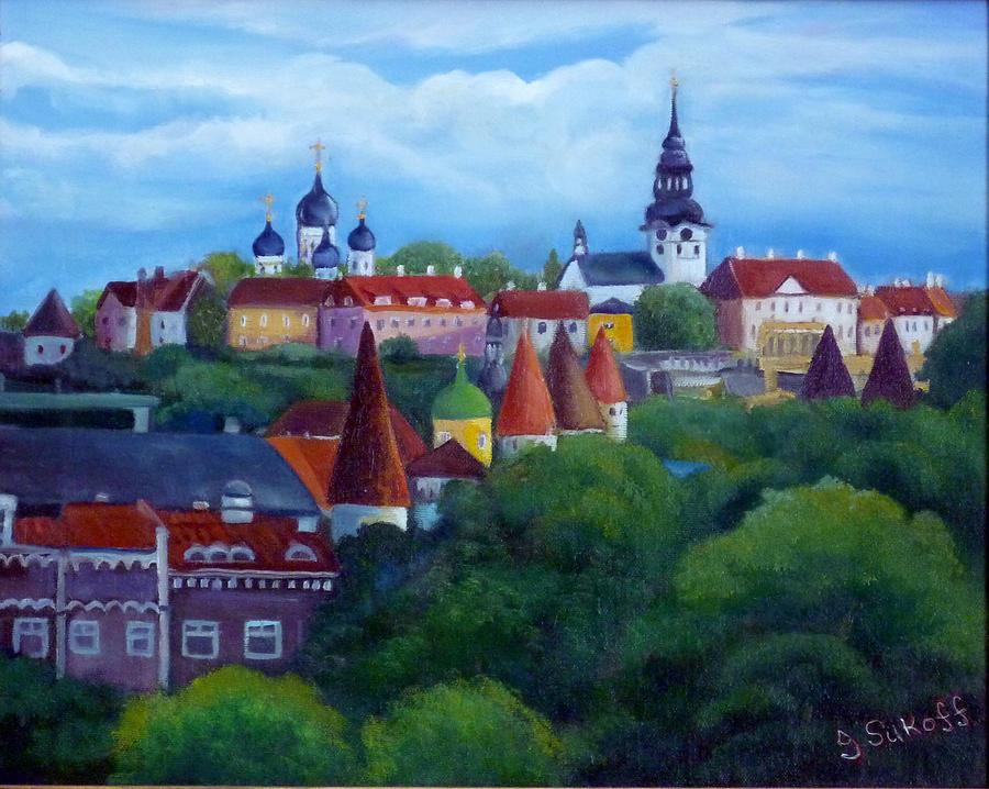 Tallinn Painting - Tallinn Estonia by Janet Silkoff
