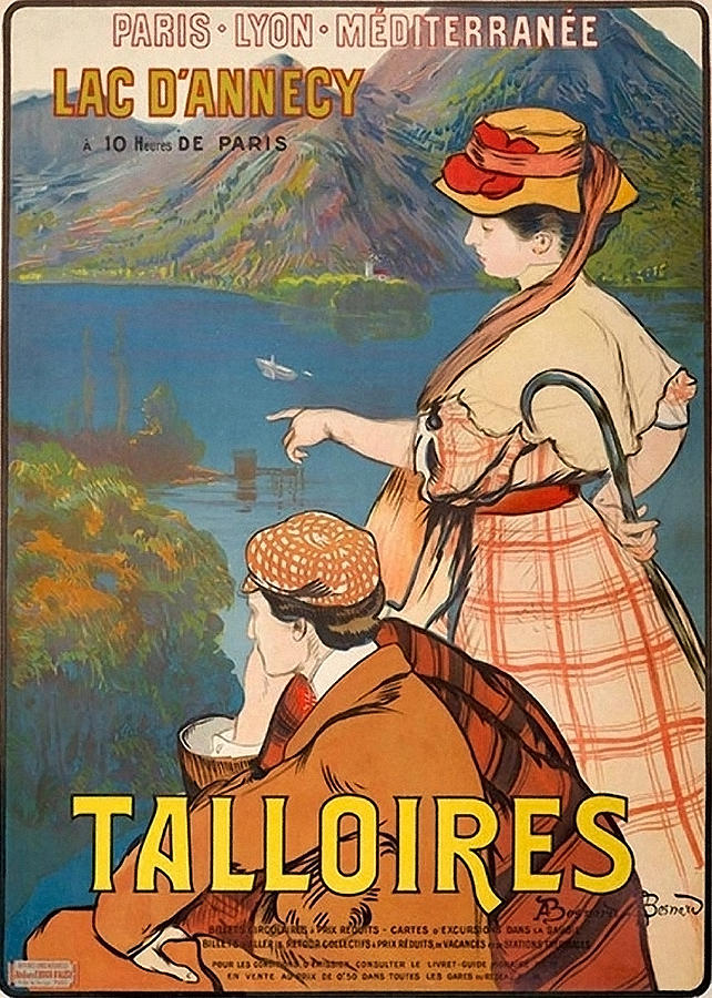 Talloires Painting - Talloires, France, Paris Lyon Mediterranean by Long Shot