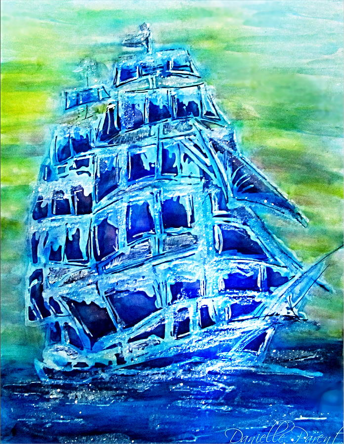 Tallship Alcohol Inks by Danielle  Parent