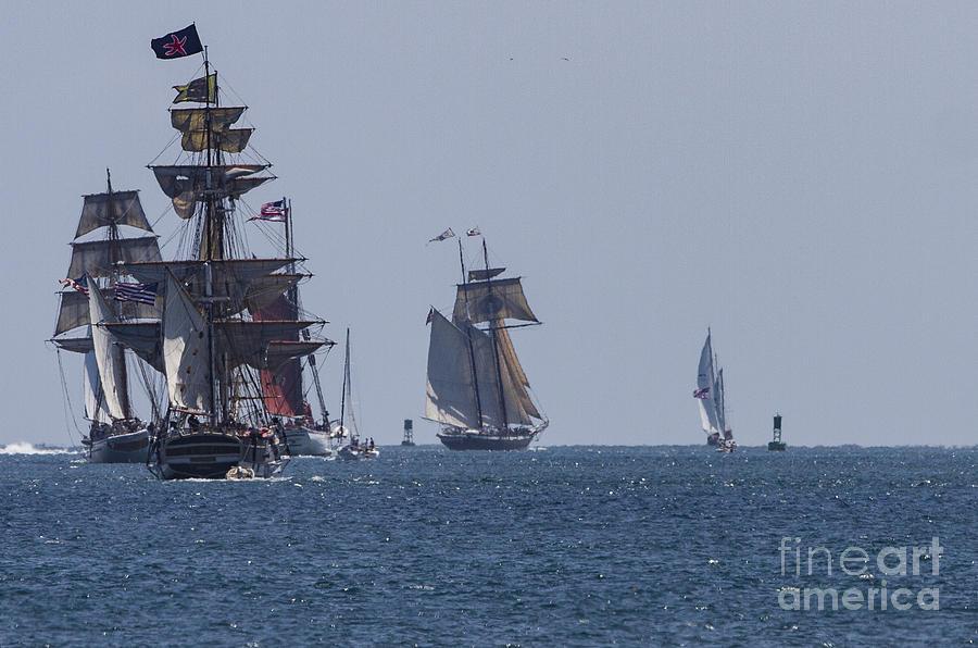 Tall Ships Photograph - Tallships by Caroline  Jeanine