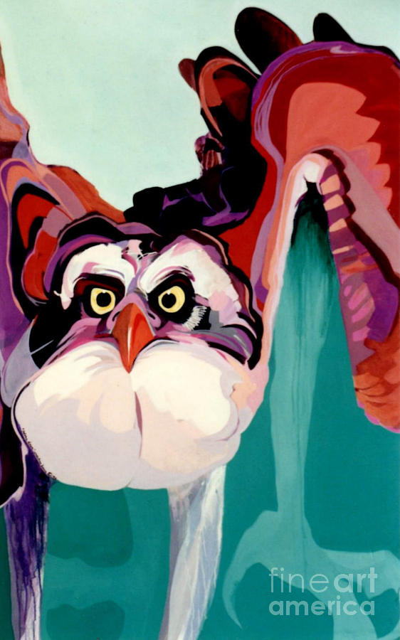 Raptor Painting - Talons Down by Marlene Burns