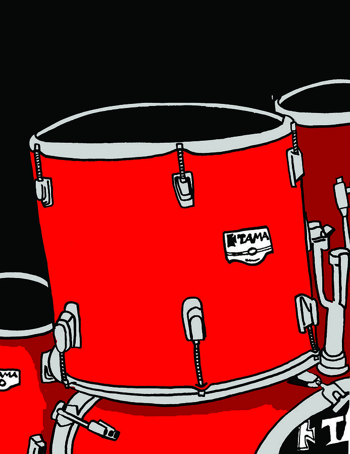 Drum Digital Art - Tama Drums by Kip  Lake