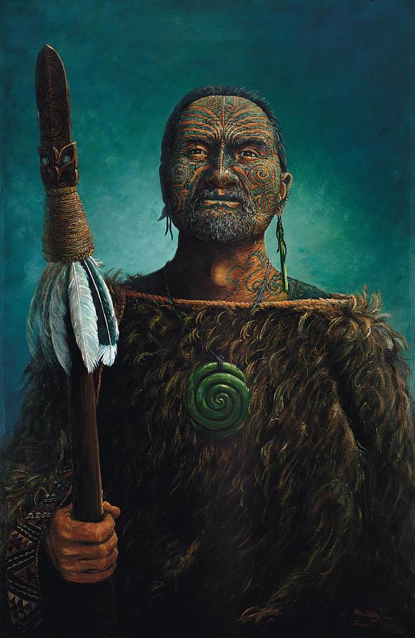 Maori Painting - Tamaki by Peter Jean Caley