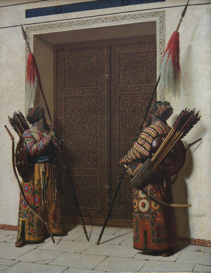 Oil On Canvas Painting - Tamerians Doors by Vasily Vereshchagin
