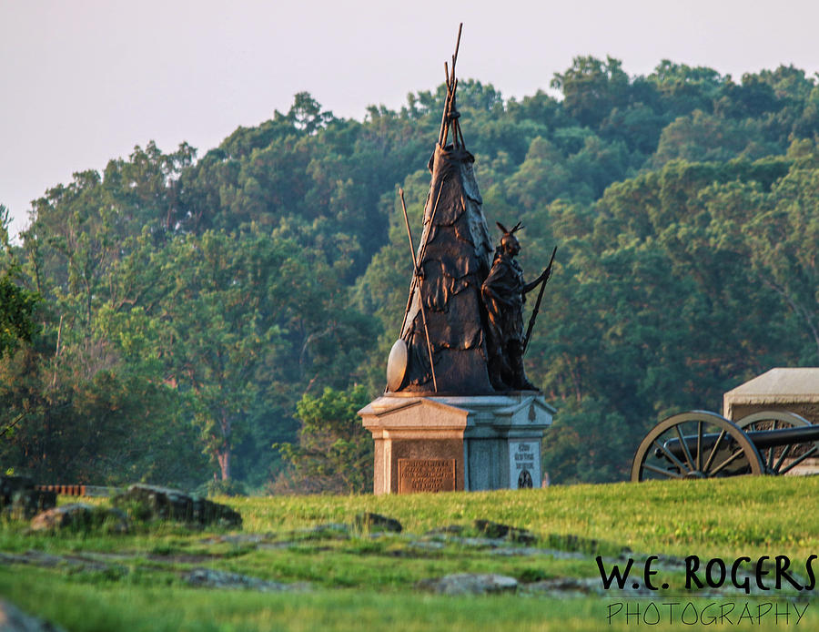 Gettysburg Battlefield Photograph - Tammany Regiment by William Rogers