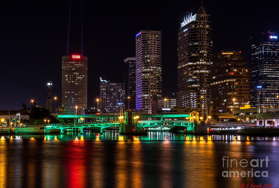 Tampa at Night by Sue Karski