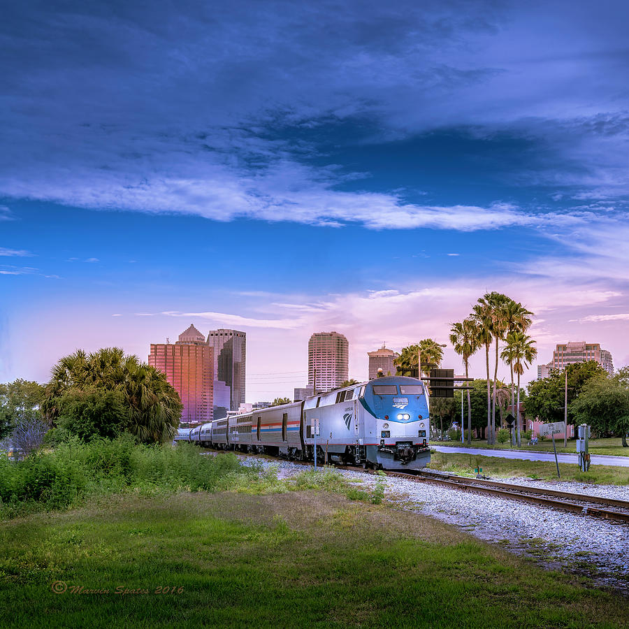 Amtrak Photograph - Tampa Departure by Marvin Spates