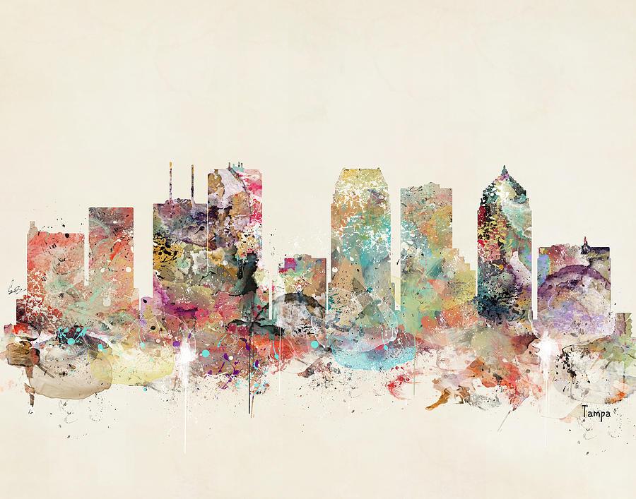 Tampa Painting - Tampa Florida by Bri Buckley