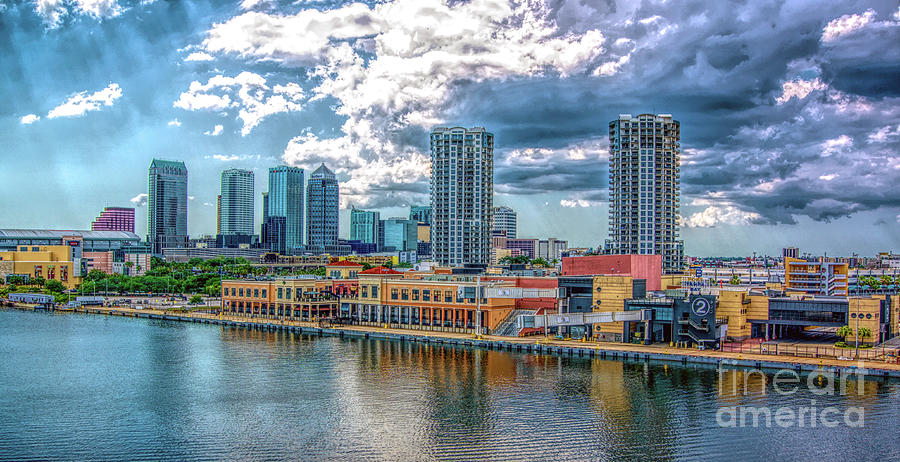 Tampa Florida Skyline by Sue Melvin