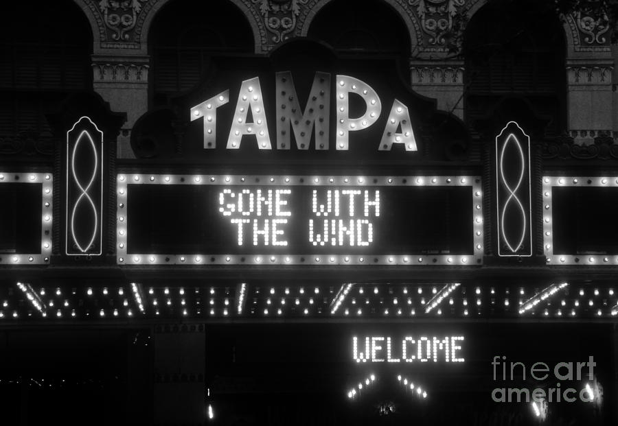 Tampa Theatre Photograph - Tampa Theatre 1939 by David Lee Thompson