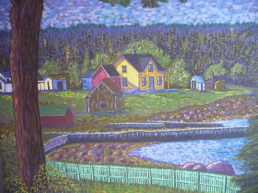 Islands Pastel - Tancook Houses by Rae  Smith