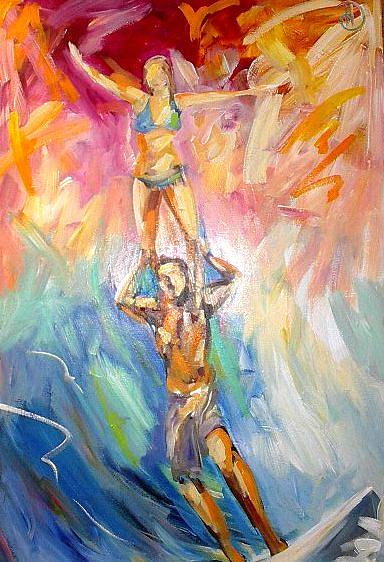 Tandem Play Painting by Heather Roddy