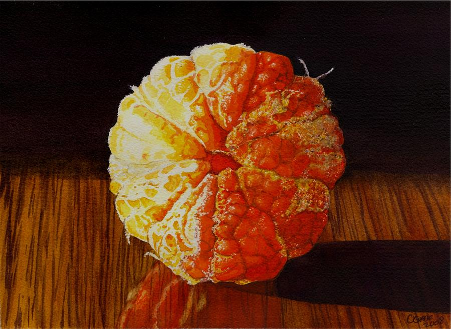 Still Life Painting - Tangerine by Catherine G McElroy