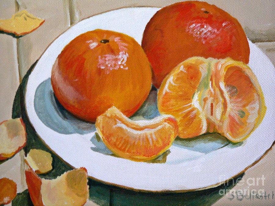 Orange Painting - Tangerine by Sandra Bellestri