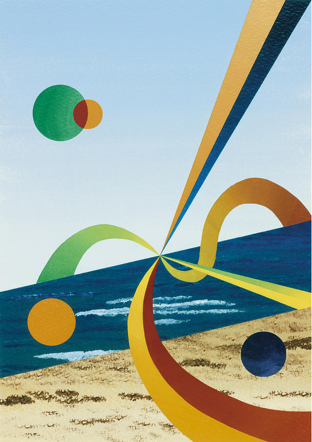 Hard-edge Painting - Tangers  by Eliot LeBow