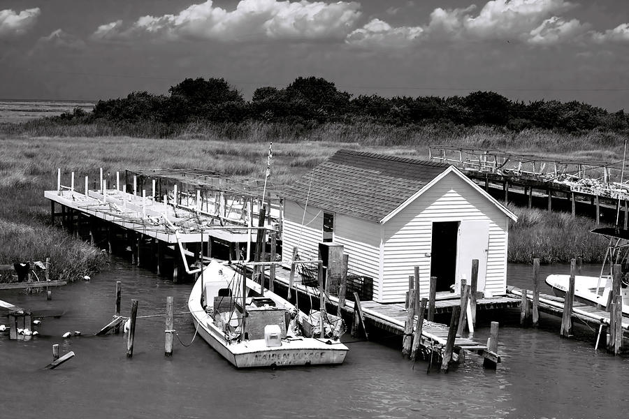 Seascape Photograph - Tangier Island 2 by Alan Hausenflock