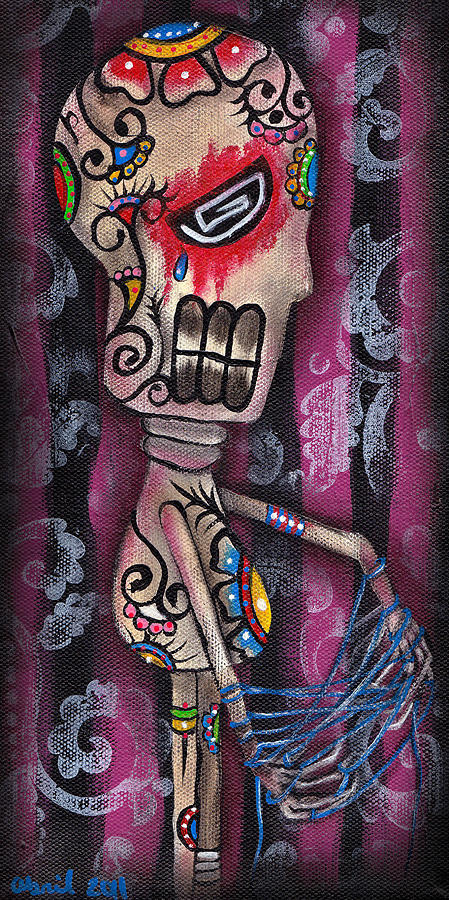Day Of The Dead Painting - Tangled by  Abril Andrade Griffith