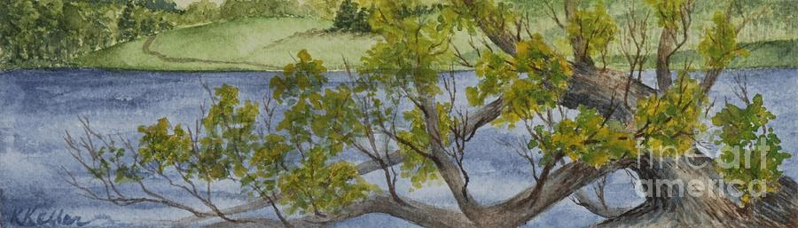 Lake Painting - Tangled at Lake Cunningham by Kathleen Keller
