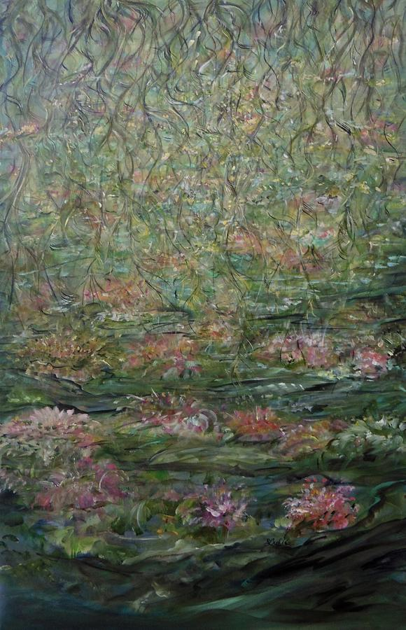 Impressionistic Landscape Painting - Tangled Charms by Sara Credito