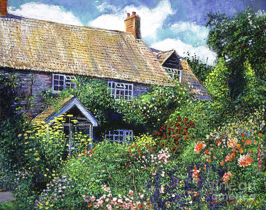 Tangled English Garden Painting By David Lloyd Glover