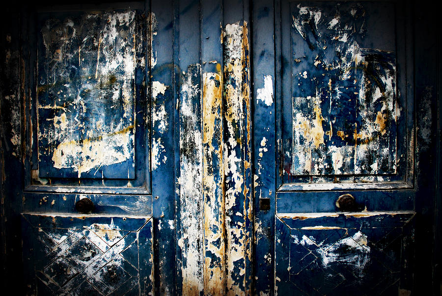 Door Photograph - Tangled Up In Blue by Cabral Stock