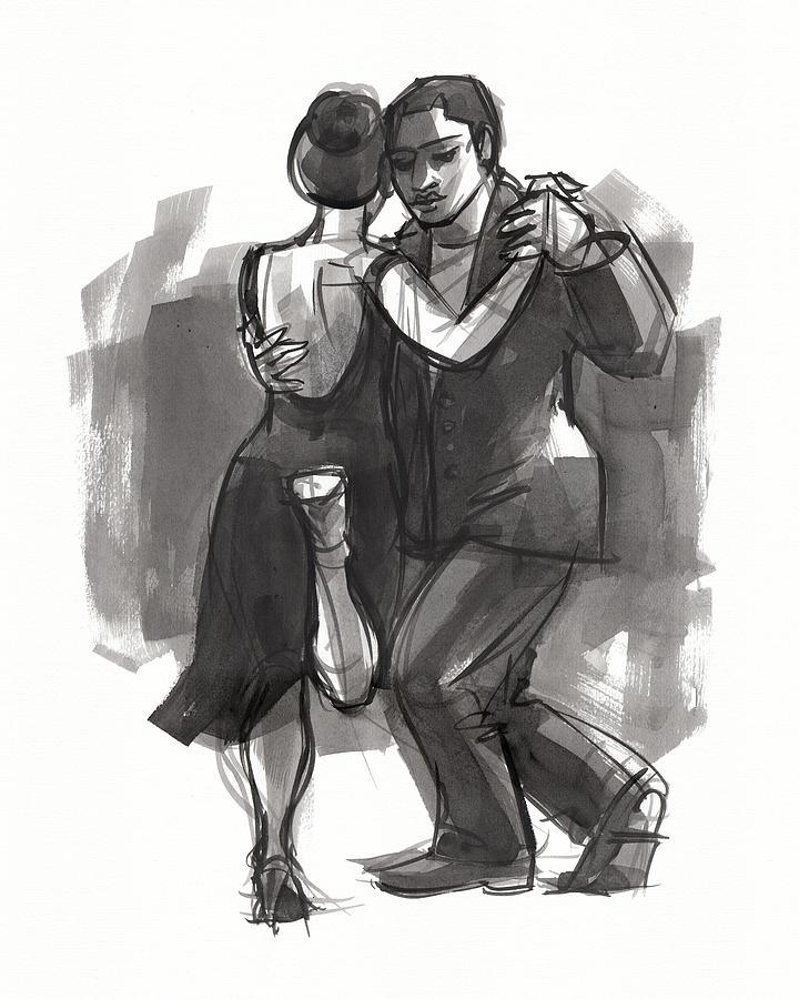 Tango 6 Painting by Judith Kunzle