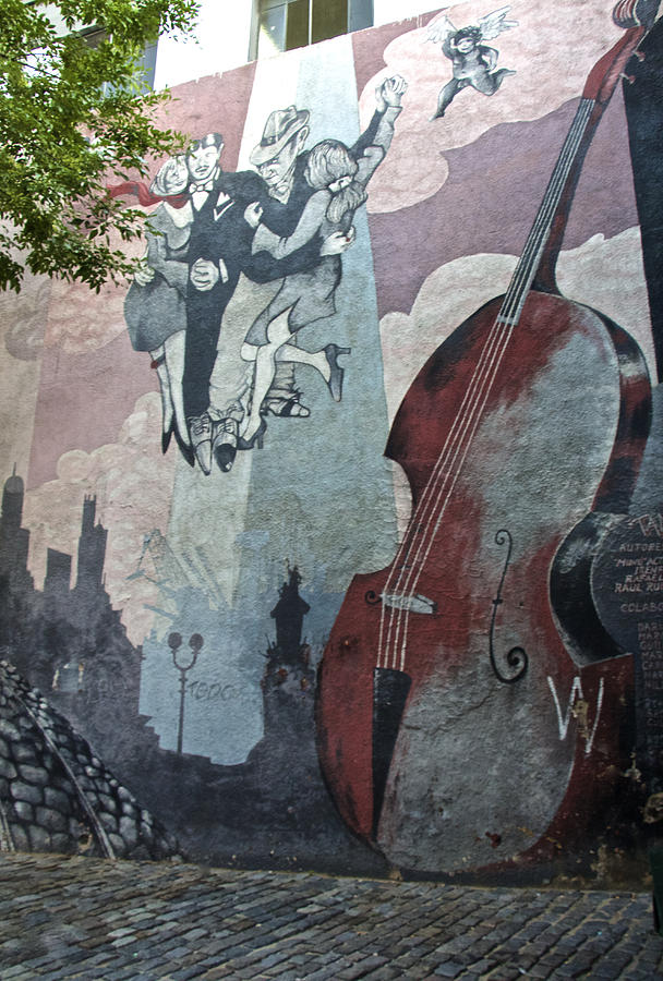 Mural Photograph - Tango And The Double Bass by Venetia Featherstone-Witty