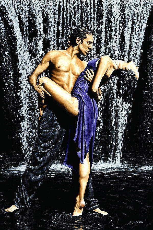 Tango Painting - Tango Cascade by Richard Young