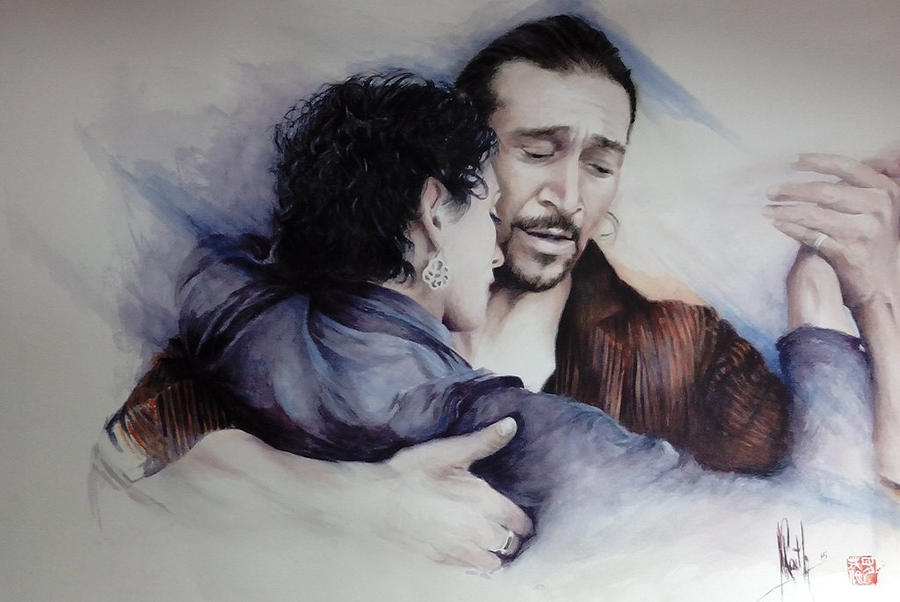 Tango Embrace Painting by Alan Kirkland-Roath
