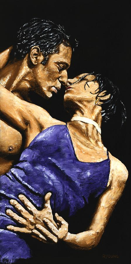 Couple Painting - Tango Heat by Richard Young