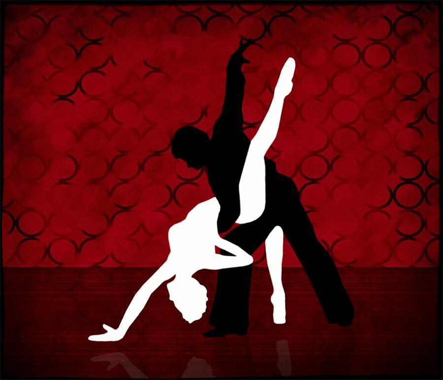 Tango Digital Art - Tango Series 1 by Jannina Ortiz