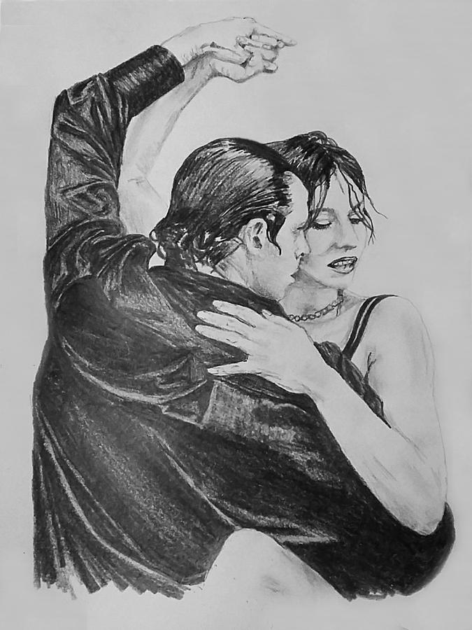 Sketch Drawing - Tango by Sheryl Gallant