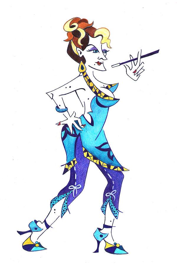 Tango Drawing - Tango Woman - Fashion Illustration by Arte Venezia