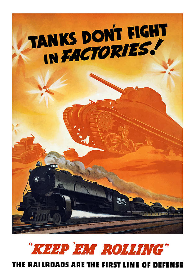 Trains Painting - Tanks Dont Fight In Factories by War Is Hell Store