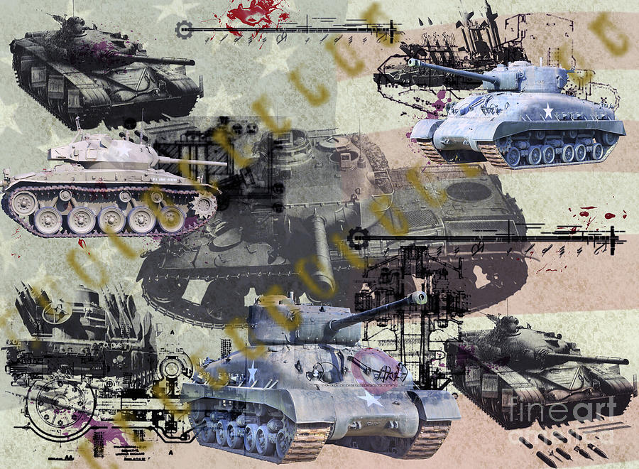 U.s. Military Photograph - Tanks by Ken Frischkorn
