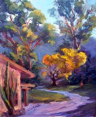 Tanque Verde Ranch Painting by Geri Acosta