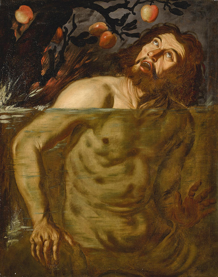 Tantalus Painting - Tantalus by Dutch Follower of Caravaggio