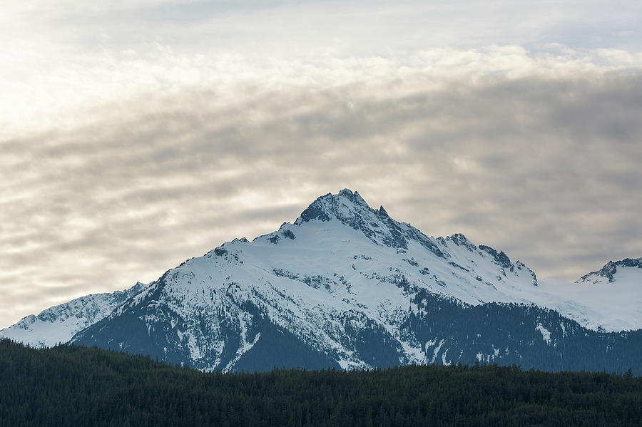 Tantalus Photograph - Tantalus Mountain Range Closeup by David Gn