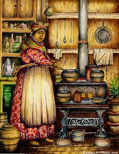 Tante Marie A Creole Woman Painting by Daniel Marcus