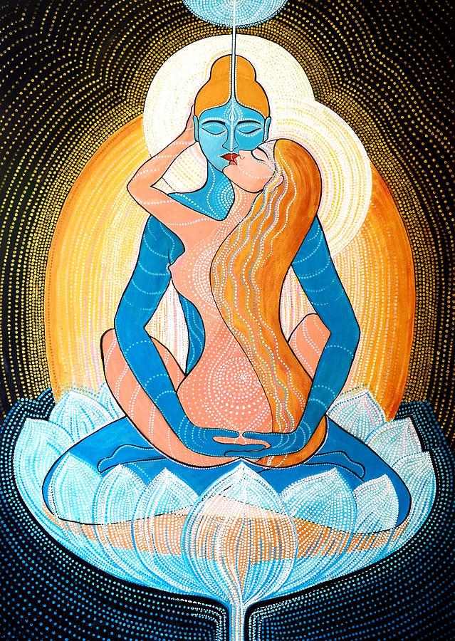 Love Painting - Tantric Love by Agnieszka Szalabska