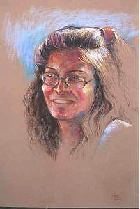 Portrait Painting - Tanya  by Tina Siddiqui