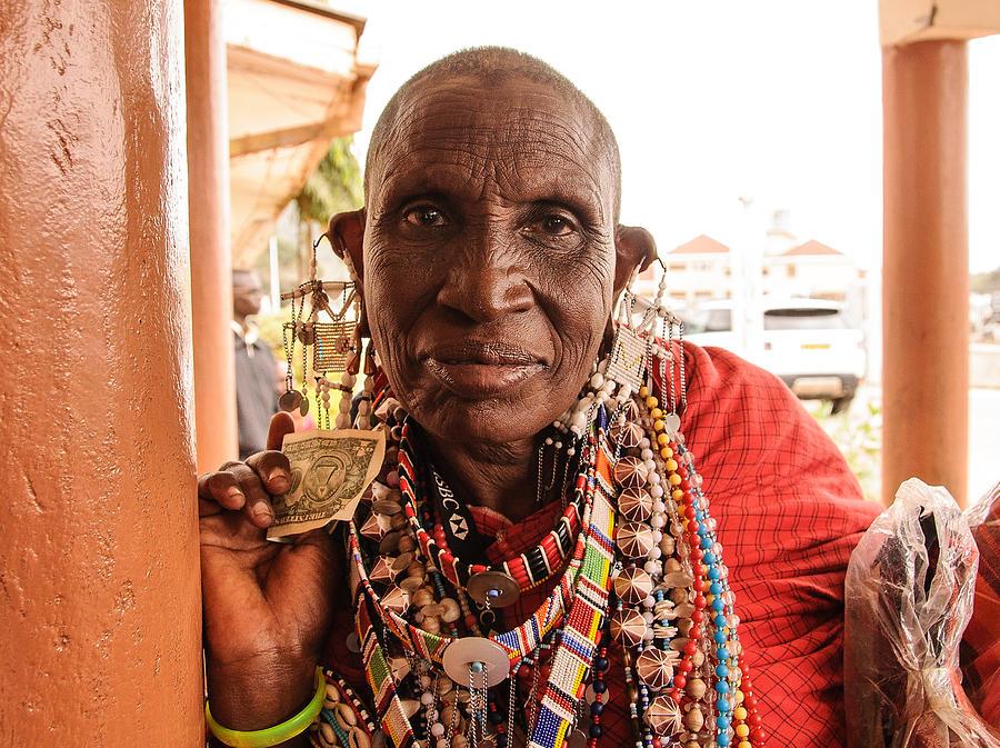 Tanzania Portrait by Mitchell R Grosky