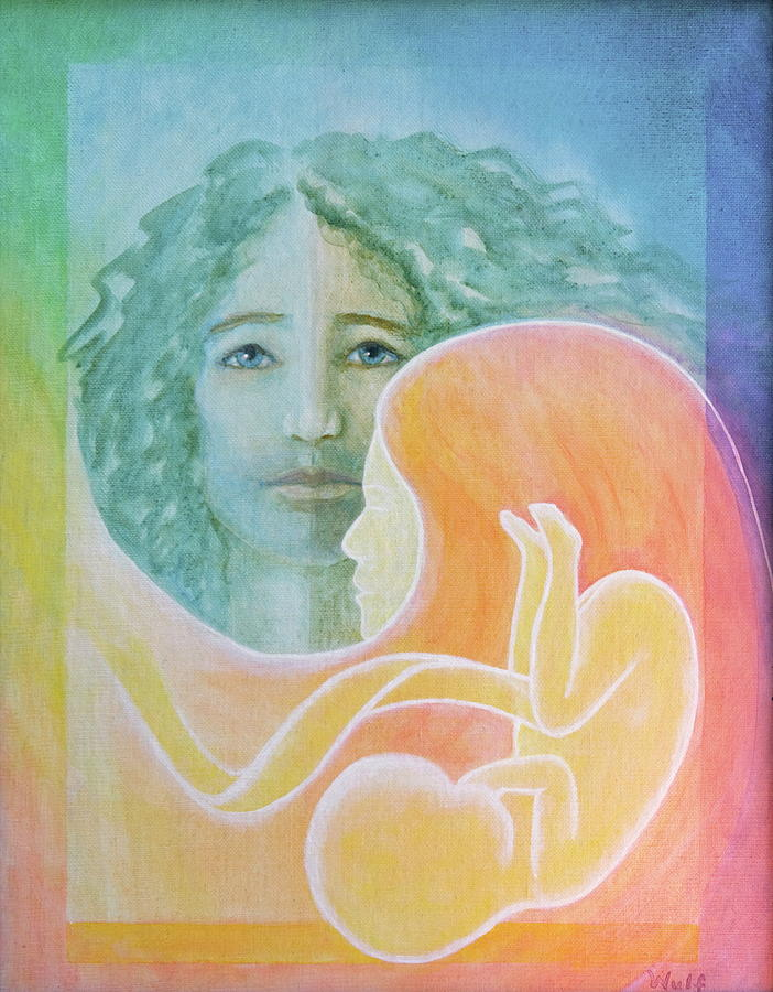 Family Painting - Tao Of Love - Family by Bernadette Wulf