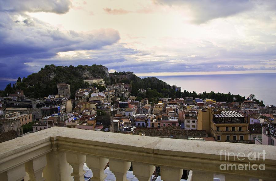 Taormina Photograph - Taormina Balcony View 2 by Madeline Ellis