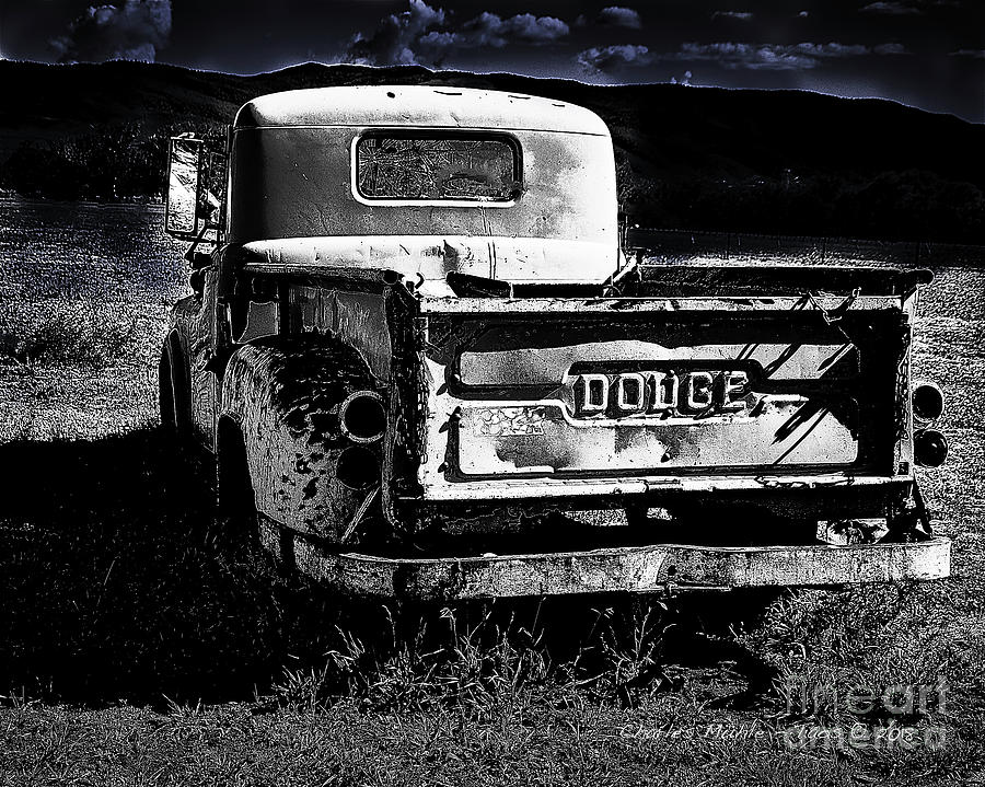 Taos Dodge B-W by Charles Muhle