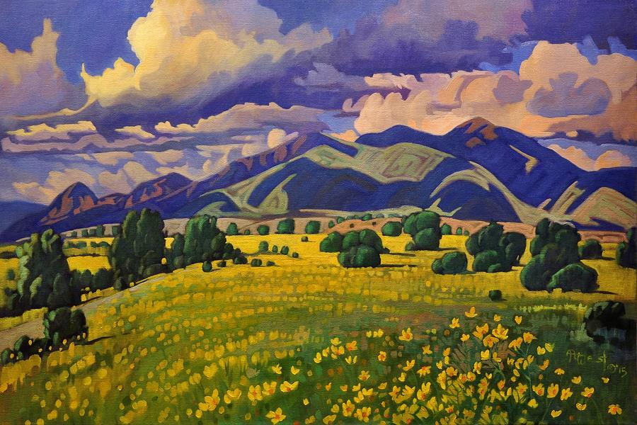 Taos Fields of Yellow by Art West