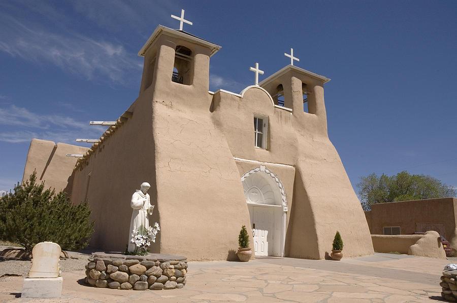 Church Photograph - Taos Landmark by Jerry McElroy