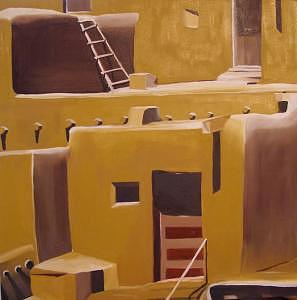 New Mexico Painting - Taos by Liz Konstantinov