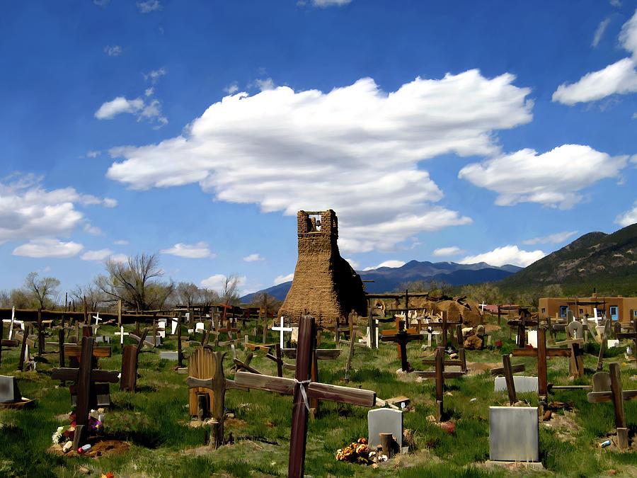 Taos Photograph - Taos Pueblo Cemetery by Kurt Van Wagner