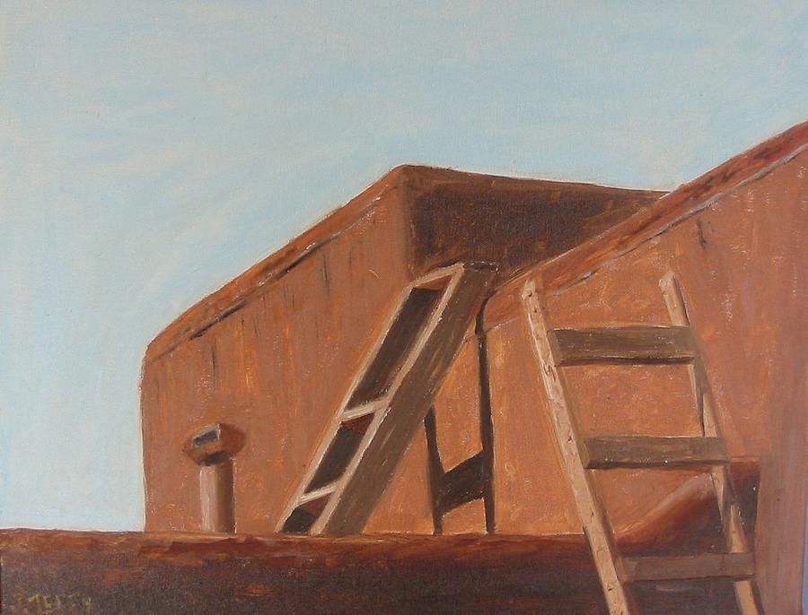 Taos Pueblo II Painting by John Terry